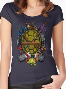 Turtle Family Crest - Full Color Women's Fitted Scoop T-Shirt