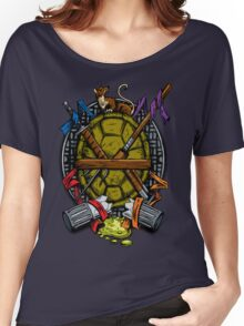 Turtle Family Crest - Full Color Women's Relaxed Fit T-Shirt