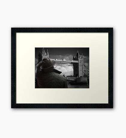 Which way to St Pancras  Framed Print