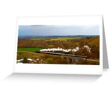 Crossing the viaduct. Greeting Card
