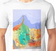 Girl on the hill Unisex T-Shirt
