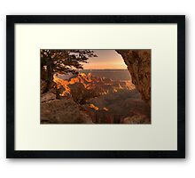 Sunset Over Bright Angel Point - 1 © Framed Print