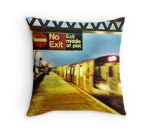 Subway Flurries Throw Pillow