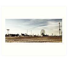Coney Island Rides Art Print