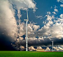 Windfarms Trecon - France by Victor Pugatschew