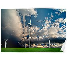 Windfarms Trecon - France Poster