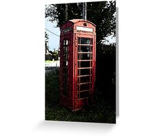 The Old Phone Box Greeting Card