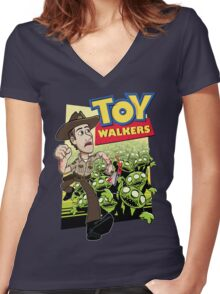 Toy Walkers (color) Women's Fitted V-Neck T-Shirt