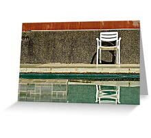 Chair by the Water Greeting Card
