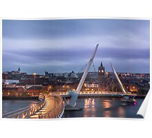 Peace Bridge in Derry Poster