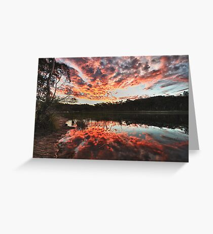 Dunns Swamp Sunset Greeting Card