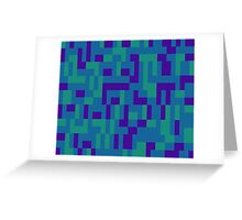 Lo Res Blu Noise Greeting Card