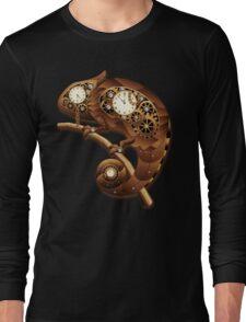 Steampunk Chameleon Vintage Style Long Sleeve T-Shirt