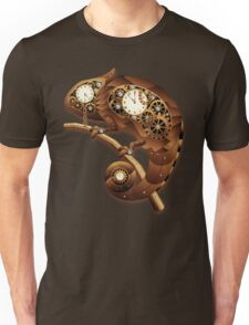 Steampunk Chameleon Vintage Style Unisex T-Shirt