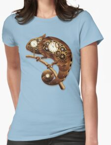 Steampunk Chameleon Vintage Style Womens Fitted T-Shirt