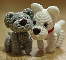 2 Little Crochet Puppy Dogs by Furtographic
