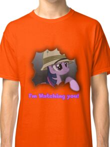 """Twilight Sparkle """"I'm Watching you!"""" - My Little Pony Friendship is Magic Classic T-Shirt"""