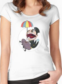 Penguin drops in Women's Fitted Scoop T-Shirt