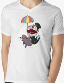 Penguin drops in Mens V-Neck T-Shirt