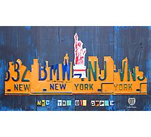 New York City Skyline License Plate Art NYC USA Photographic Print
