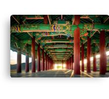 korean architecural art Canvas Print