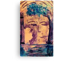 The haunting of a past, watercolor Canvas Print
