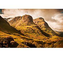 Three Sisters. Glencoe. Scotland Photographic Print