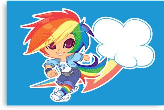 MLP Gijinka Rainbowdash  by Rachel Zimra