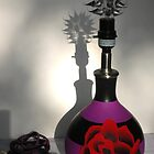 Handpainted Rose Tattoo Lamp by SavannahStone