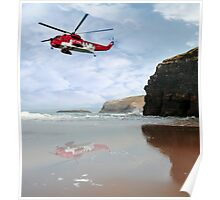 air sea rescue coast search Poster