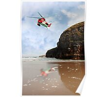 air sea rescue coastal search Poster