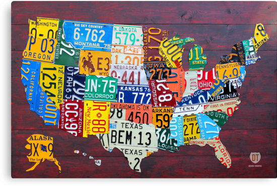 License Plate Map of The United States 2012 Edition 3 by designturnpike