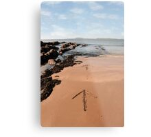 arrows in the sand Metal Print