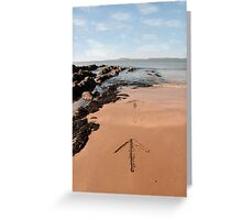 arrows in the sand Greeting Card