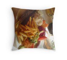 loverly kebab Throw Pillow