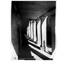 Colonnade in Venice Poster