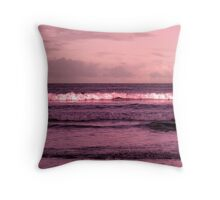 ballybunion beach purple winter storm waves Throw Pillow