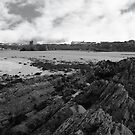 ballybunion castle from the black rocks by morrbyte
