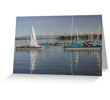 Boating Reflections Greeting Card