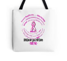 Breasts, Whatever You Call Them Think Pink Tote Bag