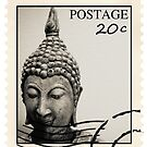 Buddha Postage by Shaun Anthony