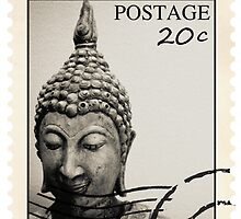 Buddha Postage by supershaun