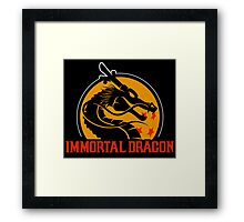 Inmortal Dragon - Shenron parody Framed Print