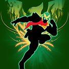 Super Smash Bros. Green Captain Falcon Silhouette by jewlecho