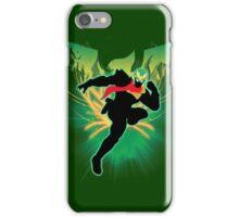 Super Smash Bros. Green Captain Falcon Silhouette iPhone Case/Skin