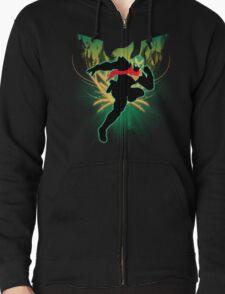 Super Smash Bros. Green Captain Falcon Silhouette T-Shirt