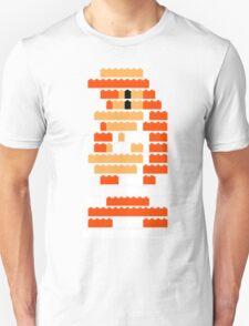 8-Bit Brick Peach Unisex T-Shirt