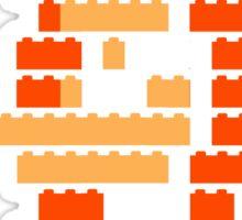 8-Bit Brick Peach Sticker