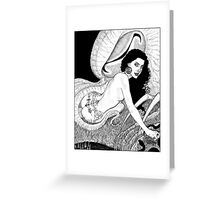 Erzulie calls down the Great Cthulhu Greeting Card