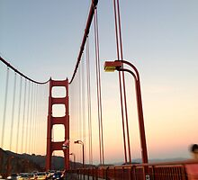 GG Bridge sunset by hitomimyhomie